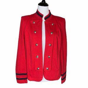 Tommy Hilfiger Jacket Red Open Front Stretch L